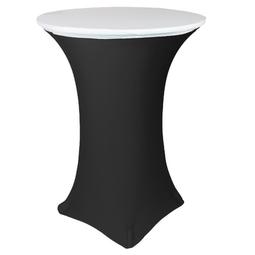 "30"" Stretch Spandex Table Topper/Cap White"