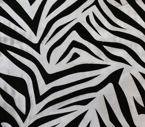 10 Pack Damask Zebra Taffeta Sashes White and Black