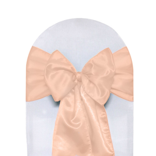Satin Sashes Peach(Pack of 10)