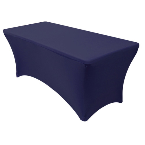 Stretch Spandex 5 ft Rectangular Table Cover Navy Blue