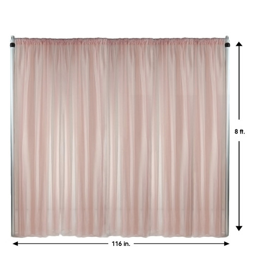 Voile Sheer Drape/Backdrop 8 ft x 116 Inches Blush