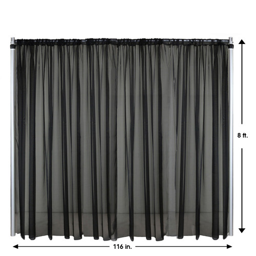 Drape/Backdrop 8 ft x 116 Inches Black