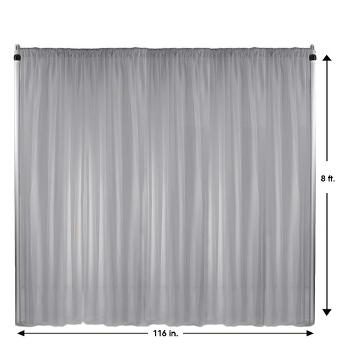 Drape/Backdrop 8 ft x 116 Inches Silver