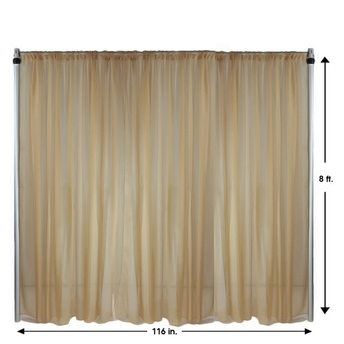Drape/Backdrop 8 ft x 116 Inches Champagne