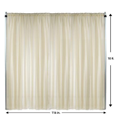 Drape/Backdrop 10 ft x 116 Inches Ivory