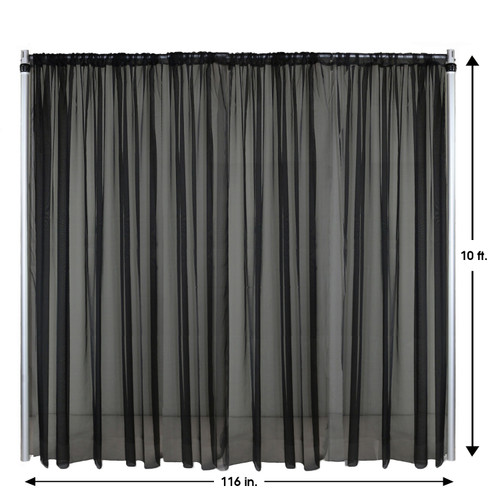 Drape/Backdrop 10 ft x 116 Inches Black