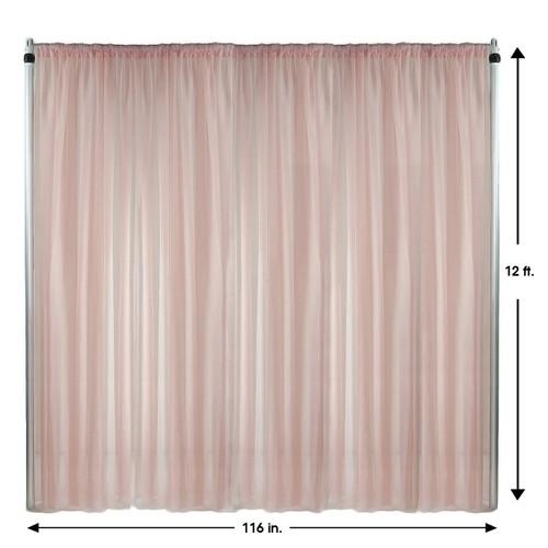 Drape/Backdrop 12 ft x 116 Inches Blush