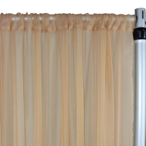 Voile Sheer Drape/Backdrop 12 ft x 116 Inches Champagne