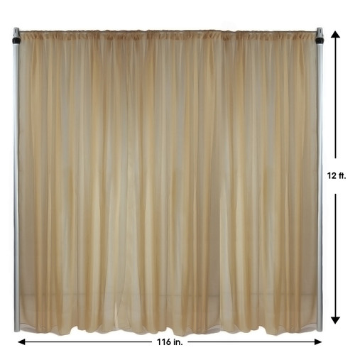 Drape/Backdrop 12 ft x 116 Inches Champagne