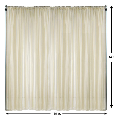 Drape/Backdrop 14 ft x 116 Inches Ivory