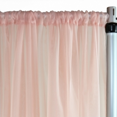 Voile Sheer Drape/Backdrop 14 ft x 116 Inches Blush