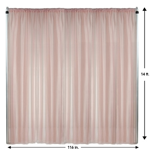 Drape/Backdrop 14 ft x 116 Inches Blush