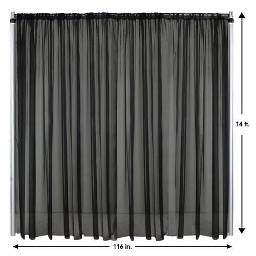 Drape/Backdrop 14 ft x 116 Inches Black