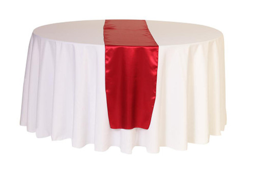 14 x 108 Inch Satin Table Runner Red