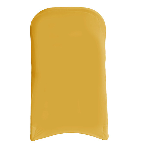Wholesale Stretch Spandex Folding Chair Covers Gold