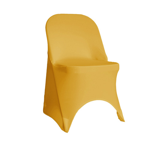 Gold Spandex Folding Chair Covers