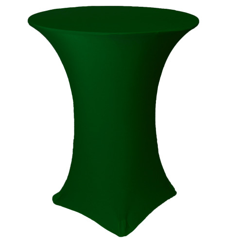 36 inch Highboy Cocktail Round Stretch Spandex Table Covers Hunter Green
