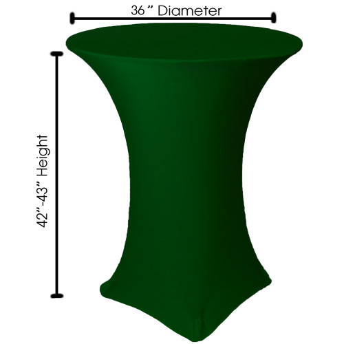 Round Stretch Spandex Table Cover Hunter Green