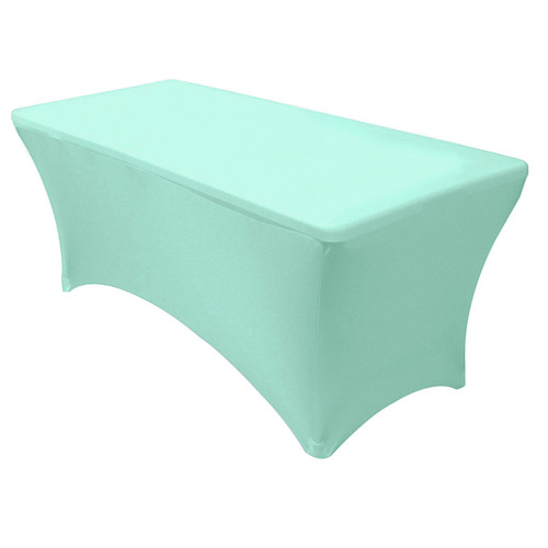 Stretch Spandex 8 ft Rectangular Table Cover Tiffany