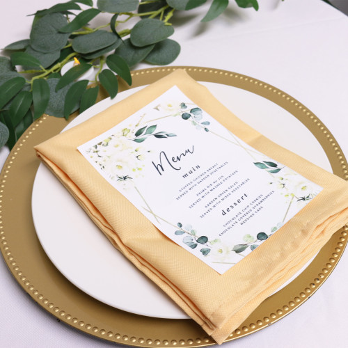 Polyester Cloth Napkins Peach in use