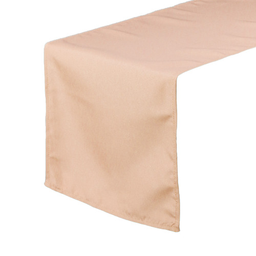 14 x 108 inch Polyester Table Runners Peach