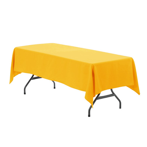 60 x 126 Inch Rectangular Polyester Tablecloth Gold