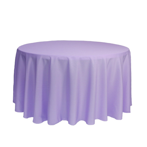 120 Inch Round Polyester Tablecloth Lavender