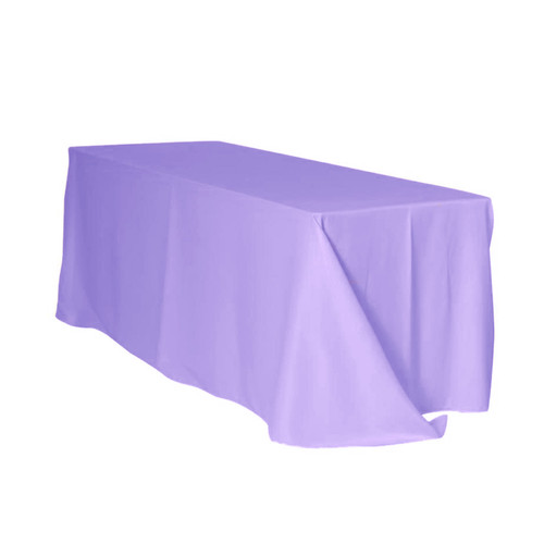 90 x 132 Inch Rectangular Polyester Tablecloth Lavender