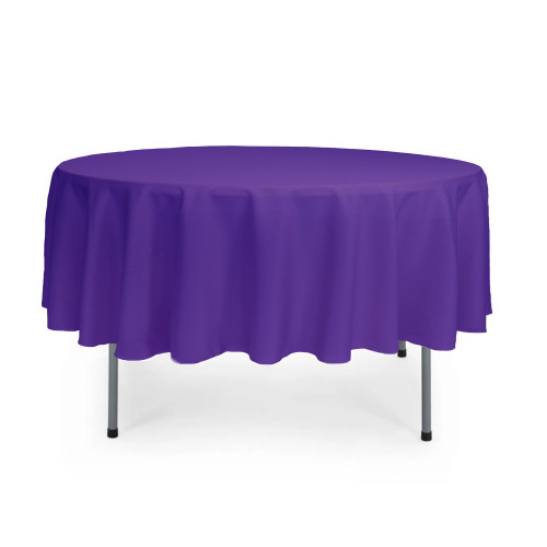 90 Inch Round Polyester Tablecloth Purple