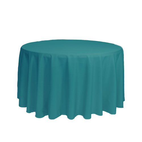 108 Inch Round Polyester Tablecloth Teal