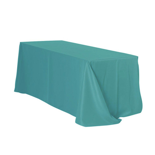 90 x 132 Inch Rectangular Polyester Tablecloth Teal