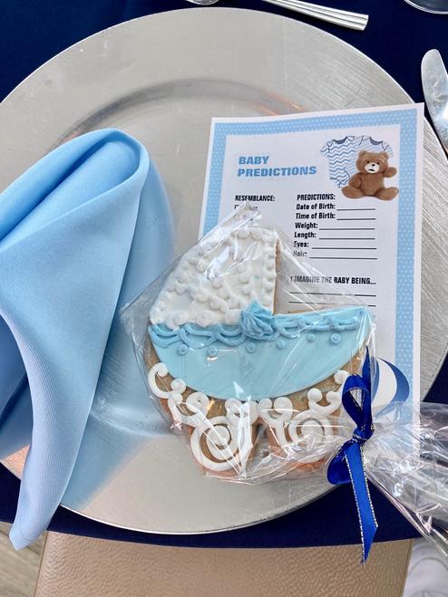 baby blue napkins