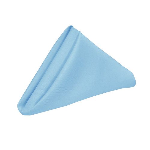 10 Pack 20 Inch Polyester Cloth Napkins Light Blue