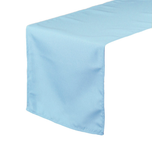 14 x 108 Inch Polyester Table Runner Light Blue