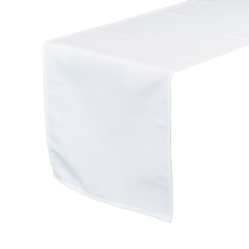 14 x 108 Inch Polyester Table Runner White