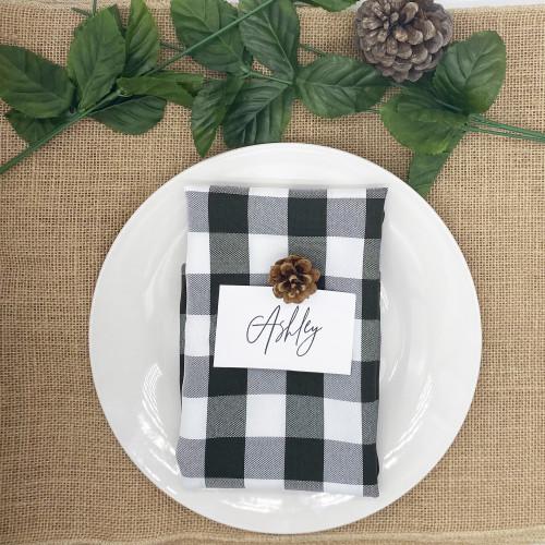 black and white checkered napkins