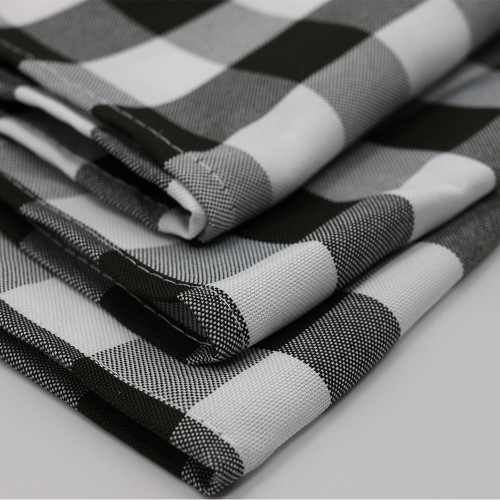 Polyester Checkered Black