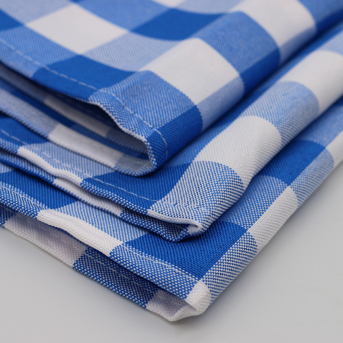 Polyester Checkered Royal Blue Swatch