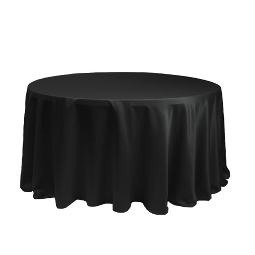 120 Inch Round L'amour Tablecloth Black