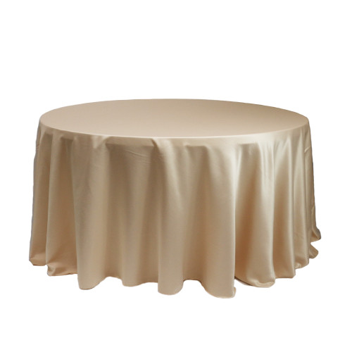 120 Inch Round L'amour Tablecloth Champagne