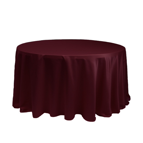 120 Inch Round L'amour Tablecloth Burgundy