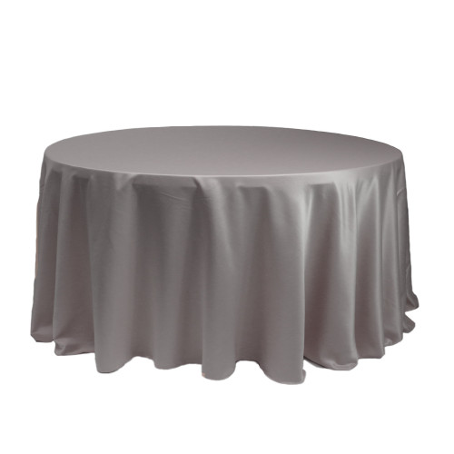 120 Inch Round L'amour Tablecloth Dark Silver