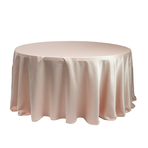 120 Inch Round L'amour Tablecloth Blush