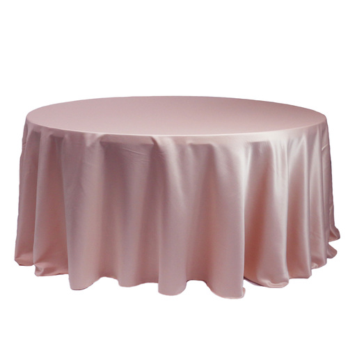 132 Inch Round L'amour Tablecloth Pink