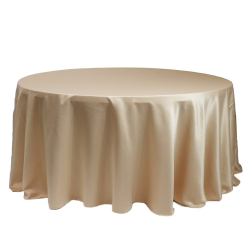 132 Inch Round L'amour Tablecloth Champagne