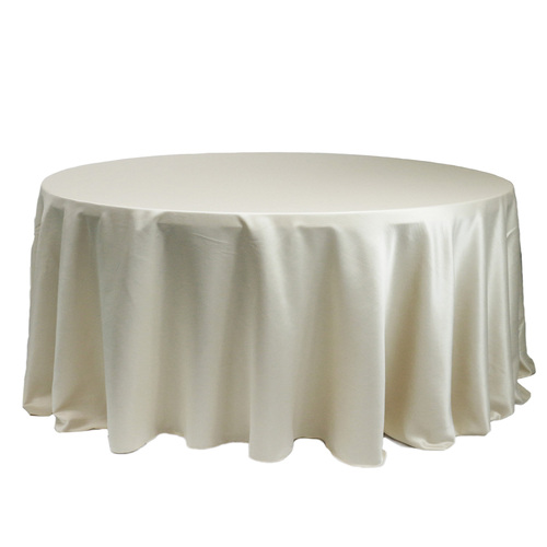 132 Inch Round L'amour Tablecloth Ivory