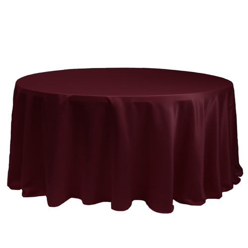 132 Inch Round L'amour Tablecloth Burgundy