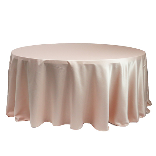 132 Inch Round L'amour Tablecloth Blush