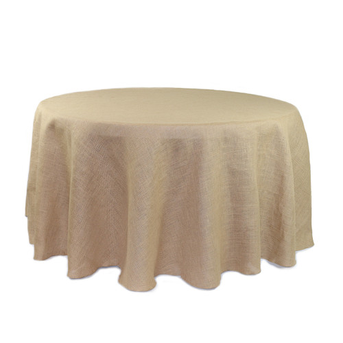 108 Inch Round Burlap Tablecloth