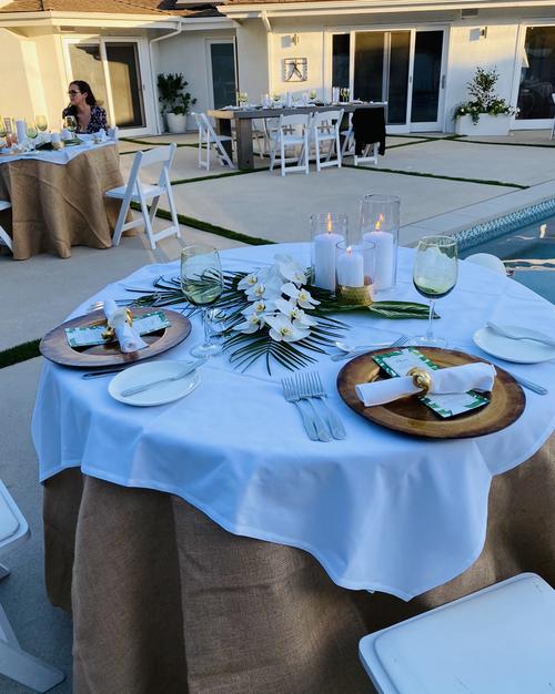burlap round tablecloth